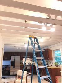 キッチンの天井のペンキ塗り、もうヘトヘト。 - 玄米菜食 in ニュージャージー