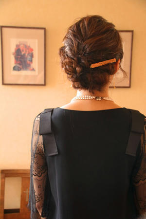 結婚式 お呼ばれヘア ヘアアレンジ 編み込み 結婚式コーデ さくら市 美容室エスポワール - 美容室エスポワール
