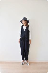 人気のサロペットをテーバードパンツタイプで作りました♫ - 親子お揃いコーデ服omusubi-five(オムスビファイブ)