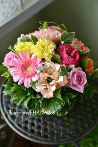 20歳のお誕生日に両親に贈る♪フラワーアレンジメント。 - 花色~あなたの好きなお花屋さんになりたい~