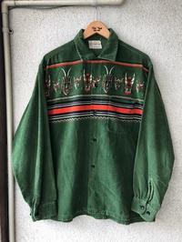1950's TOWNCRAFT Indian Printed Corduroy Shirt - TideMark(タイドマーク) Vintage&ImportClothing