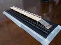 板張り駅ジオラマ制作中 - e-stationショップブログ