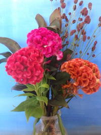 久しぶりに花を飾りました - うららフェルトライフ