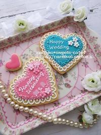 Happy Wedding アイシングクッキー - nanako*sweets-cafe♪