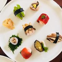 夏の名残野菜のお寿司〜 - 玄米菜食 in ニュージャージー