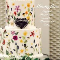 押し花ケーキをお作りしました! - ブライダルアルバム