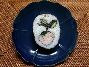 ウサギと柿の飾り巻き寿司 -