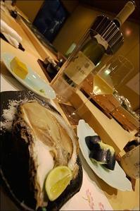 二十数年来のお寿司やさんで岩牡蠣とシャブリと秋刀魚を焼いていただいて、、、 - 生きる歓び Plaisir de Vivre。人生はつらし、されど愉しく美しく