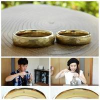 鎚目模様の結婚指輪   岡山 - 工房Noritake