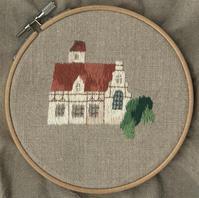 木組みの家の刺繍をしました。 - vogelhaus note