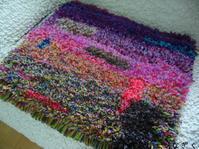 ノッティングマット、ぐるぐるコースター - アトリエひなぎく 手織り日記