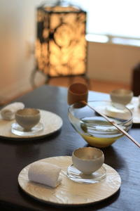 水出し煎茶を柄杓で・・・ - アン・クベールのおもてなし教室