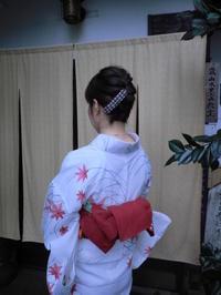 紅葉柄の夏のお着物。 - 京都嵐山 着物レンタル&着付け「遊月」