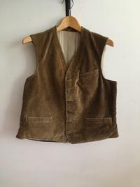 40's Animal Buttons Corduroy Hunting Waistcoat From France - DIGUPPER BLOG