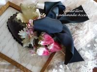 しずく型のヘッドドレス『いちご』 - 愛知 豊橋 布花アクセサリーCendrillon
