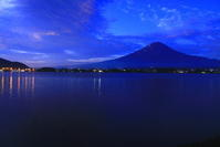 30年9月の富士(5)河口湖の夜明けの富士 - 富士への散歩道 ~撮影記~