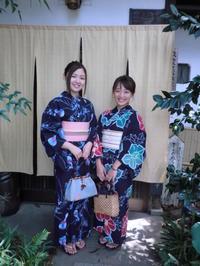 紺色浴衣は夏の定番・・・レトロな浴衣はやっぱりいいです。 - 京都嵐山 着物レンタル&着付け「遊月」