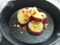 サツマイモの蜂蜜ナッツかけ - Minha Praia