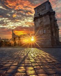 イタリアの夕焼け - 本日、デザイン日和