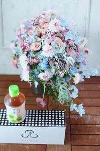 卒花嫁様アルバムアニヴェルセルみなとみらいの花嫁様よりアンテプリマのピンクのドレスに - 一会 ウエディングの花