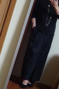 秋にむけて買った黒のワイドパンツ - おしゃれ自己満足日記