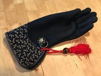 Dragonfly falconry glove for ADIHEX2018 (猛禽グローブ-印伝トンボ for ADIHEX2018) - 新米ファルコナー(鷹匠)の随想録