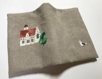 木組みの家の刺繍文庫本カバー(2) - vogelhaus note