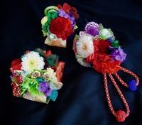 オーダーメイド成人式髪飾り3点セット - Flower ID. DESIGN