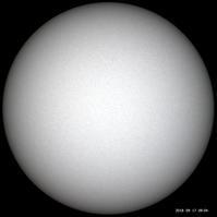 9月17日の太陽 - お手軽天体写真