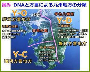 DNAと方言による、九州地方の分類の試み - 伊那の谷から古代が見える