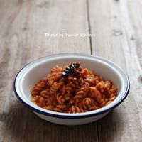 あり合わせしらすのトマトソースパスタ - ふみえ食堂  - a table to be full of happiness -