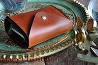 イタリアンヴィンテージバケッタレザー・2つ折りコインキャッチャー財布(改)時を刻む革小物 - 時を刻む革小物 Many CHOICE~ 使い手と共に生きるタンニン鞣しの革