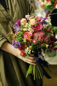 9月 一会マンスリーレッスン  秋色と白と - 一会 ウエディングの花