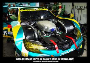 2018 AUTOBACS SUPER GT Round 6 SUGO GT 300km RACE 決勝  - TAKAMATSU SNOWSCOOT COMPETITION JAPAN
