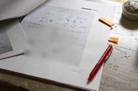 校正作業をしています - フェルタート(R)・オフフープ(R)立体刺繍作家PieniSieniのブログ