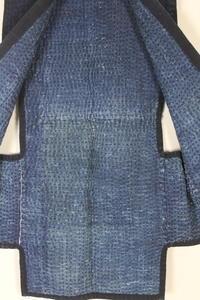 古布木綿庄内紙縒り野良着Japanese Antique Textile Koyori-paper Noragi Shonai - 京都から古布のご紹介