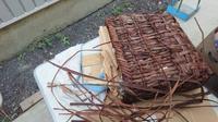 山葡萄籠 - 古布や麻の葉