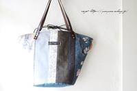 【ワンランク上の布バッグ】秋色パッチの優しい布合わせでマルシェトート♪ - neige+ 手作りのある暮らし