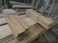 腰板の加工 - 手作り家具工房の記録