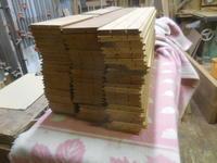 ケヤキの腰板の加工2 - 手作り家具工房の記録