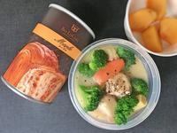 9/20防災缶パン&シチュー弁当 - ひとりぼっちランチ