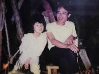二十六年前の私と娘 - 福島県南会津での山暮らしと制作(陶芸、木工)