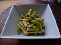 枝豆とショートパスタのジェノベーゼ和え - LEAFLabo
