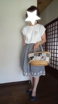 9月9日、70代。今夏最後のギンガムチェックのスカートでコーディネートをする - 楽しく元気に暮らします