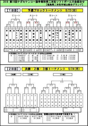 第19回二本松大会組み合わせ - Tax-accountant-office ソフトボールブログ