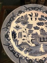 ウィローパターン 大皿 - Antiques&Junk  RoseRing   アンティークス  ローズリング