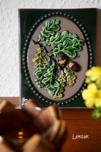 スウェーデンのJie Gantoftaの陶板 ~どんぐり~ - 北欧ノモノ ~デンマークからお届けします~