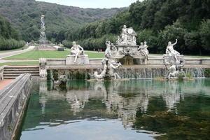 カゼルタ宮殿の広大な庭園と動物たち、イタリア カンパーニア - イタリア写真草子 Fotoblog da Perugia