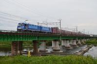 多摩川橋梁を渡るEH200‐901 - 鉄道日記コム