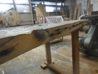 舟板のフレームを作ります。 - 手作り家具工房の記録